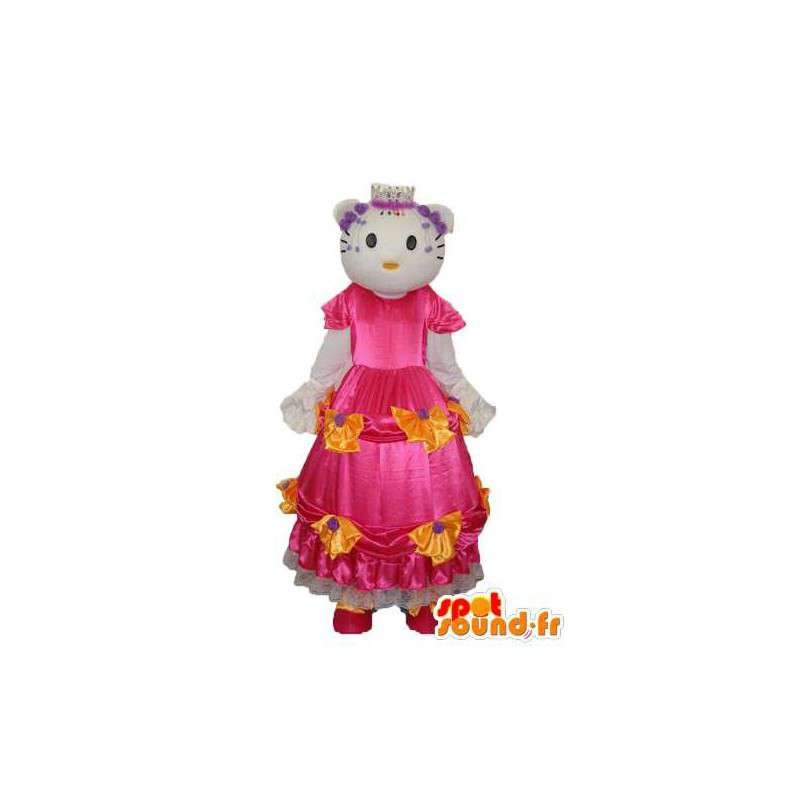 Costume représentant Hello en robe rose - MASFR004120 - Mascottes Hello Kitty