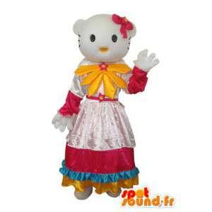 Costume représentant Hello en robe à pétales - MASFR004124 - Mascottes Hello Kitty