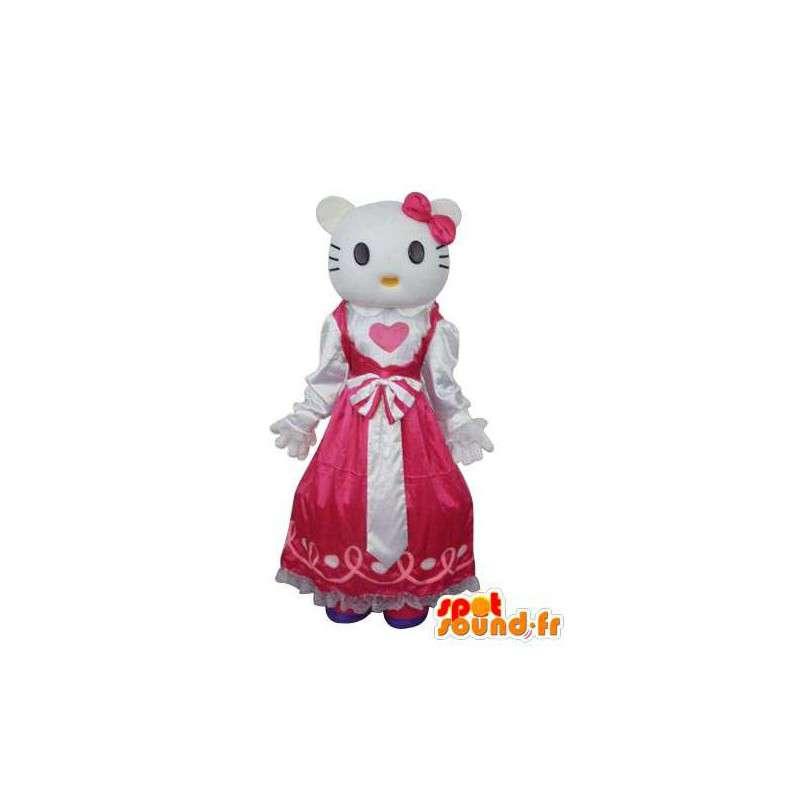 Mascotte de Mimmy, sœur jumelle de Hello , en robe rose - MASFR004130 - Mascottes Hello Kitty