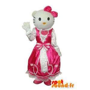 Mascota Mimmy, hermana gemela Hola, en vestido rosa