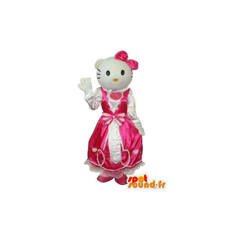 Mimmy mascot, sister twin Hello, in pink dress - MASFR004134 - Mascots Hello Kitty