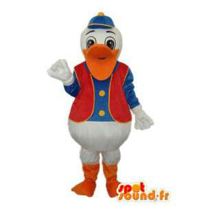Mascot Donald representante Duck - customizável