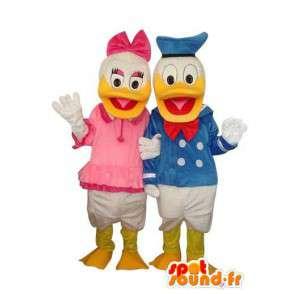 Duo de mascottes de Donald et Daisy Duck - MASFR004139 - Mascottes Donald Duck
