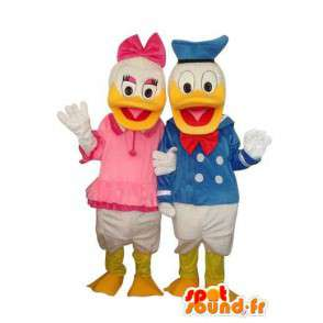 Duo mascots Donald and Daisy Duck - MASFR004139 - Donald Duck mascots