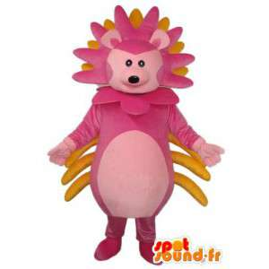 Hedgehog costume pink and yellow - Customizable - MASFR004149 - Mascots Hedgehog
