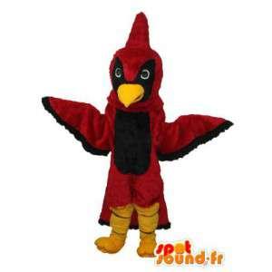 Preto e vermelho traje pássaro - customizável