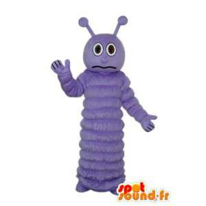 Terno mostrando uma lagarta violeta - MASFR004179 - mascotes Insect