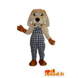 Déguisement d'un chien en salopette - Personnalisable - MASFR004194 - Mascottes de chien