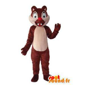 Edustavat orava puku - orava Suit  - MASFR004206 - maskotteja orava
