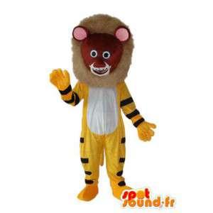 Lion cub maskot plysch brun, gul och svart - Spotsound maskot