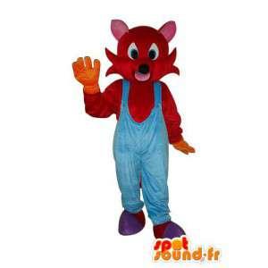 μασκότ του ποντικιού βελούδινα κόκκινο - κοστούμι του ποντικιού