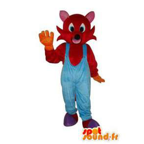 Mascotte de souris en peluche rouge - costume souris - MASFR004216 - Mascotte de souris