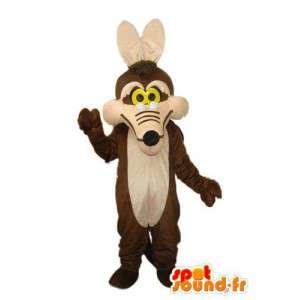 Mascot reine braun und hellbraun Fuchs - Fuchs Anzug - MASFR004219 - Maskottchen-Fox