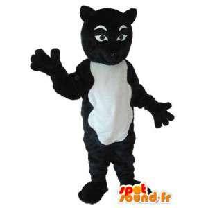 Kleidung schwarz-weiße Katze - Katzenkostüm schwarz weiß