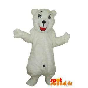 Mascot ursinho de pelúcia branco - carrega o traje - MASFR004223 - mascote do urso
