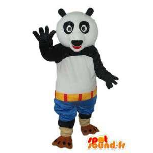 Costume panda blanc noir – Mascotte panda en peluche  - MASFR004228 - Mascotte de pandas