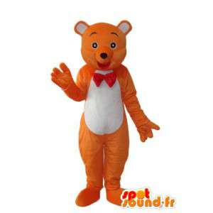 Oransje og hvit farget maskot bamse  - MASFR004238 - bjørn Mascot