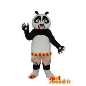 Sort hvid panda kostume - plys panda maskot - Spotsound maskot