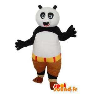 Traje negro panda blanco - panda de la mascota de la felpa - MASFR004243 - Mascota de los pandas