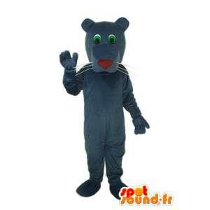Mascotte de chien bleu nuit, nez rouge - déguisement de chien - MASFR004248 - Mascottes de chien