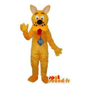Mascote amarela Scooby Doo - traje Scooby Doo amarelo