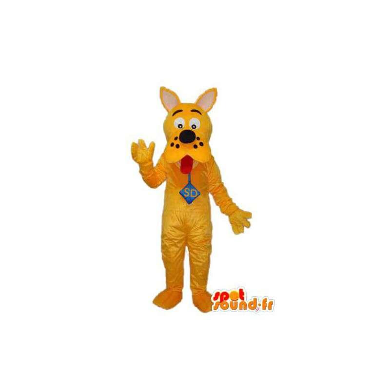 Mascote amarela Scooby Doo - traje Scooby Doo amarelo - MASFR004252 - Mascotes Scooby Doo