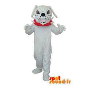 Mascot White bulldog - buldog kostuum teddy - MASFR004253 - Dog Mascottes