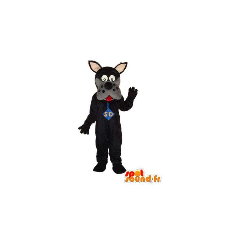 Scooby Doo Mascot Musta - valepuvussa Scooby Doo - MASFR004257 - Maskotteja Scooby Doo