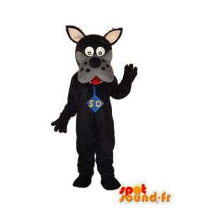 Scooby Doo schwarz-Maskottchen - Scooby Doo Kostüm - MASFR004257 - Maskottchen Scooby Doo