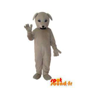 Vanlig beige plyschhundmaskot - hunddräkt - Spotsound maskot