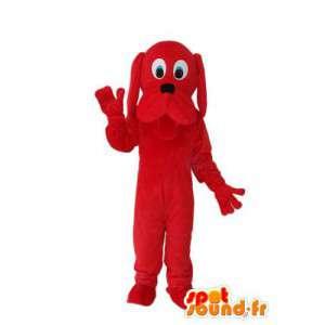 Cane rosso mascotte peluche solido - MASFR004262 - Mascotte cane