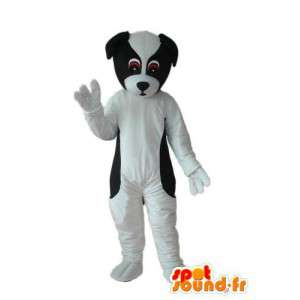 traje del perro blanco de la felpa negro - perro avío - MASFR004263 - Mascotas perro