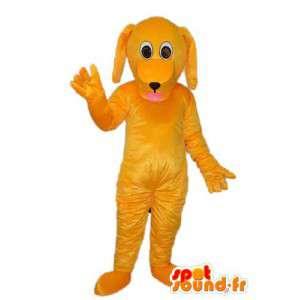 Yellow Dog Mascot Pehmo - koira perässä - MASFR004270 - koira Maskotteja