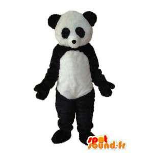 Costume panda blanc noir – Mascotte panda en peluche  - MASFR004277 - Mascotte de pandas