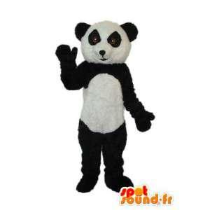 Mascotte de panda blanc noir - Déguisement de panda