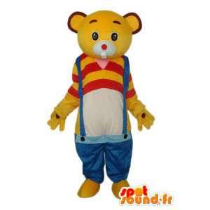 Keltainen ja punainen kani puku - kani maskotti - MASFR004282 - maskotti kanit