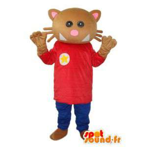 Mascot stuffed brown cat - cat costume