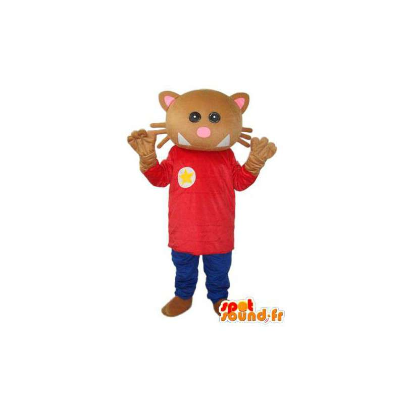 Mascot stuffed brown cat - cat costume - MASFR004291 - Cat mascots