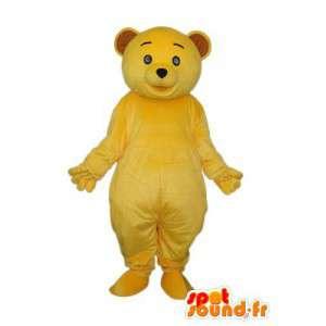 Mascotte d'ours en peluche jaune uni - Déguisement d'ours - MASFR004292 - Mascotte d'ours
