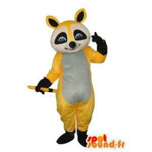 Maskot černá šedá žlutá medvěd - Bear Suit - MASFR004293 - Bear Mascot
