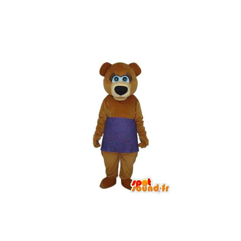 Mascot Braunbär mit blauem Lendenschurz Disguise Bär