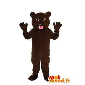 Mørk brun bamse kostyme - bear maskot - MASFR004303 - bjørn Mascot