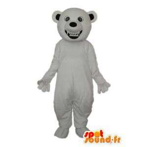 Mascotte d'ours blanc uni - Déguisement d'ours  - MASFR004305 - Mascotte d'ours