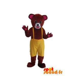 Lille bjørnen maskot brun teddy - bjørn accoutrement - MASFR004306 - bjørn Mascot