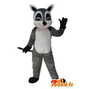 Maskot hvit og svart grå mus - mus kostyme
