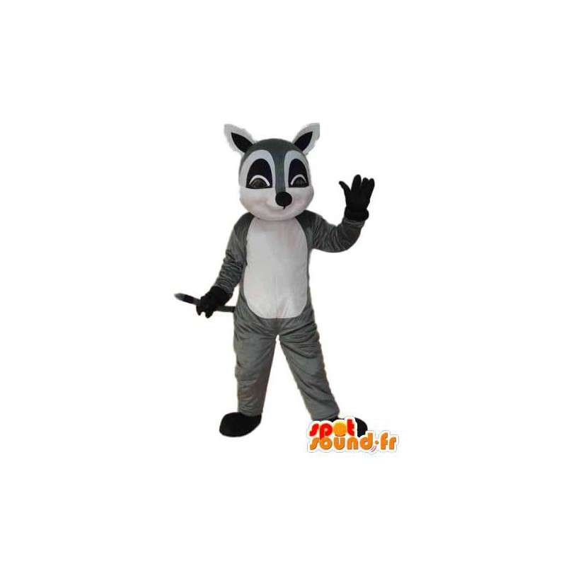 Mascotte de souris grise blanche et noire - Déguisement souris - MASFR004311 - Mascotte de souris