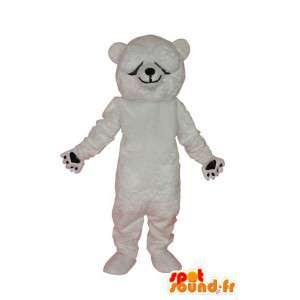 Mascotte witte teddybeer - bear suit - MASFR004314 - Bear Mascot