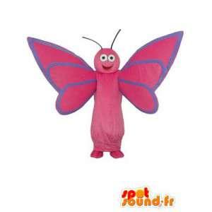 ροζ dragonfly μασκότ - Dragonfly κοστούμι