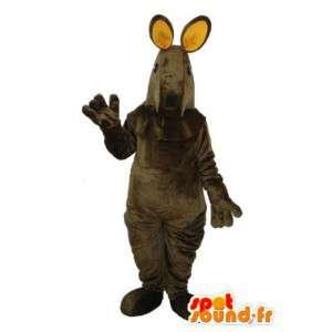 Disguise dark gray plush dog - Dog Mascot  - MASFR004334 - Dog mascots