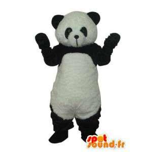 Kostume, der repræsenterer en panda - forklæd flere størrelser
